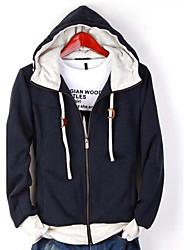 Herren Pullover Lässig/Alltäglich Aktiv Einfach Punk & Gothic Solide Mikro-elastisch Polyester Langarm Winter