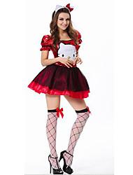 Princesse Fête / Célébration Déguisement Halloween Rouge / Bleu Couleur Pleine Jupe / Plus d'accessoires Noël Féminin Satin