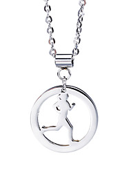 Kalen New Female Fashion Stainless Steel Jewelry Running Girl Sports Pendant Necklace Cheap Accessory Birthday Gift For Women