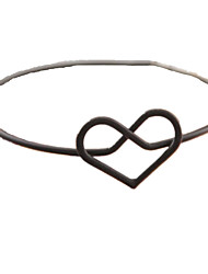 Women's Bangles Love Copper Heart Black Golden Gold/White Jewelry For Daily 1pc