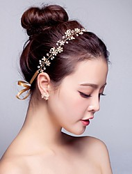 Women's Pearl / Rhinestone / Alloy Headpiece-Wedding / Special Occasion / Casual Headbands / Flowers / Wreaths / Head Chain / Hair Tool1