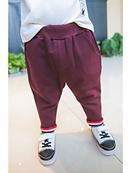 Boy Casual/Daily Solid Pants-Cotton Fall