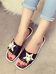 Women's Slippers & Flip-Flops Summer Slingback PU Casual Flat Heel Others Black Silver Others