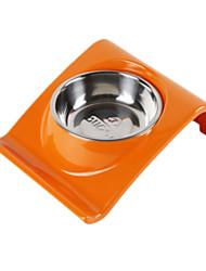 Gato / Cachorro Comedouro Animais de Estimação Tigelas e alimentação de animais Prova-de-Água / Reflector / Casual LaranjaPlástico / Aço