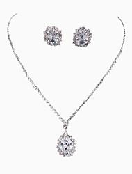Fashion Flower Style Rhinestone Necklace Set