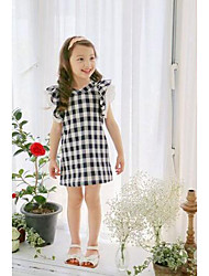 Girl's Casual/Daily / Sports Check Dress,Cotton Winter / Fall Sleeveless