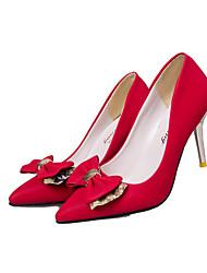 Women's Heels Fall Winter Comfort PU Casual Stiletto Heel Others Black Red Khaki Others