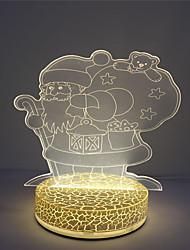 оптовый праздник света 3d эффект Xmas Санта дизайн свет ночи водить стола