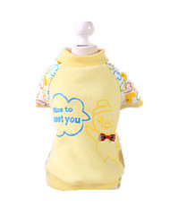 Dog Sweatshirt Yellow Dog Clothes Winter / Spring/Fall Letter & Number Casual/Daily