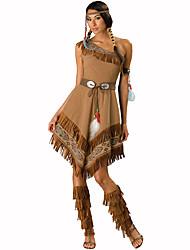 Costumes de Cosplay Costume de Soirée Primitif Fête / Célébration Déguisement d'Halloween Imprimé Robe CoiffureHalloween Noël Carnaval