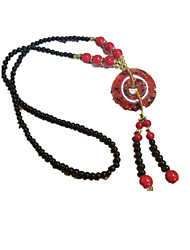 Necklace Long Necklace Jewelry Daily / Casual Circular Design Crystal Women 1pc Gift Dark Red / Yellow / Pool