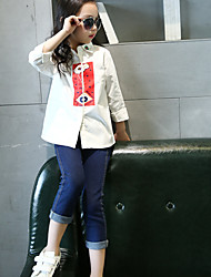 Girl Casual/Daily Solid Shirt,Cotton Spring / Fall Long Sleeve