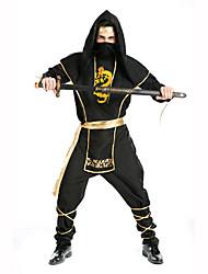 Ninja Festival/Holiday Costumes Top / Pants / Belt / Hats / Mask  Male Polyester