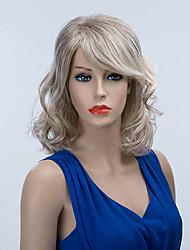 charmante mi-longueur capless perruques cheveux ombre humaine onduleux naturel