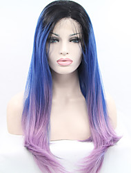 Synthetic Lace Front Wig Before The Lace Gradient Three Colors Gradient Handmade Wig