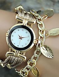 Mulheres Relógio de Moda / Relógio de Pulso / Bracele Relógio Quartz Colorido PU BandaVintage / Folhas / Boêmio / Pendente / Bracelete /