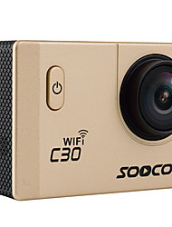 C30 WIFI Sports Action Camera 20MP 4608 x 3456 WiFi / Waterproof / Adjustable / wireless / Wide Angle 30fps No ±2EV No CMOS 32 GB H.264