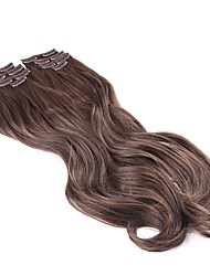 Neitsi 22'' 140g/set 7Pcs/set Curl Wavy Clip in on Synthetic Hair Extensions Highlight Hair Pieces 8#