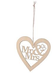 Wooden laser engraving MR & MRS wedding love widgets Hang adorn wooden wedding valentine's day