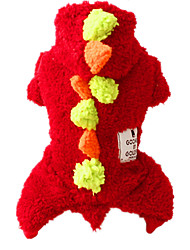 Dog Clothes/Jumpsuit Red Dog Clothes Winter / Summer / Spring/Fall Solid Cute / Casual/Daily / Keep Warm