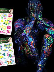 4 Tattoo Stickers Jewelry Series / Flower Series / Totem Series / Others / Cartoon Series / Romantic SeriesNon Toxic / Pattern /