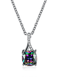 Pendant Necklaces Jewelry Party/Daily/Hallowas/Casual Fashion Copper Cubic Zirconia Platinum Plated Multicolor 1pc Gift
