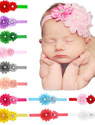 24Pcs/set Baby Girls Shabby Flower Headband With Layer Flowre Todder Hair Accessories Infant Hairband
