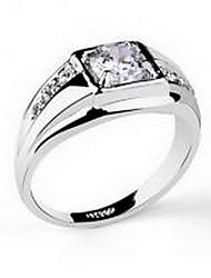 Ringe Kubikzirkonia Hochzeit / Party Schmuck Aleación Herren Ring 1 Stück,Eine Größe Silber
