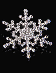 Christms Snow Flower Wedding Brooch for Women