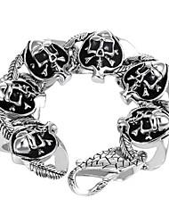 Bracelet Charmes pour Bracelets Acier inoxydable Forme de Tête de Mort Style Punk / Personnalisé Soirée / Quotidien / Décontracté Bijoux