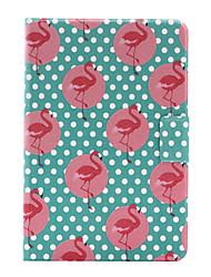 For Apple iPad Mini 4  iPad Mini 3 2 1 Case Cover Flamingo Stent Card PU Leather Material Flat Protective Shell