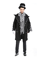 Festival/Holiday Halloween Costumes White & Black Striped Coat / Blouse / Pants / Gloves / Hats Halloween / Christmas / Carnival Male