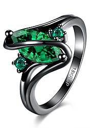 Anéis Halloween / Casamento / Festa / Diário / Casual / Esportes Jóias Cobre / Vidro Feminino Anéis Statement 1peça,6 / 7 / 8 Azul / Verde