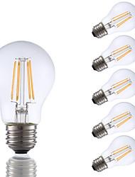 3.5 E26 Lâmpadas de Filamento de LED A17 4 COB 350 lm Branco Quente Regulável AC 110-130 V 6 pçs