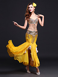Shall We Belly Dance Outfits Women Spandex Split Front Waist