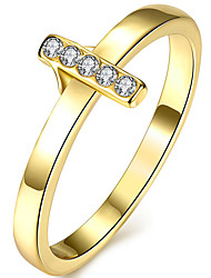 Ring AAA Cubic Zirconia Gold Plated Cross Fashion Gold Jewelry Wedding Party Halloween Daily 1pc