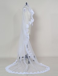 Wedding Veil One-tier Blusher Veils / Elbow Veils / Fingertip Veils / Chapel Veils / Cathedral Veils Lace Applique Edge Tulle