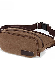 10 L Belt Pouch/Belt Bag Breathable Coffee Canvas