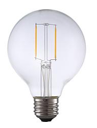 2W E26 Lâmpadas de Filamento de LED G80 2 COB 220 lm Branco Quente Regulável AC 110-130 V 1 pç