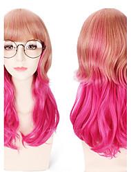zwei Klangfarbe hightligt blonde ombre synthetische lolita natürliche Wellenhaar hitzebeständig tägliche Tragen hoher Qualität zu pink