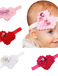 4pcs / set bebê do Valentim de cabelo em forma de coração arco bebê dia com alça filhos adoráveis acessórios para o cabelo bonito