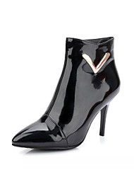 Women's Boots Spring Fall Winter Comfort Novelty Patent Leather Leatherette Wedding Office & Career Dress Casual Party & EveningStiletto