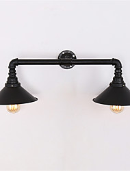 2 Heads Retro Industrial Pipe Wall Lights Simple Loft Black Metal Dining Room Kitchen Bar Cafe Decoration lighting