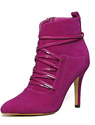 Черный / Фиолетовый / Красный-Женский-Для прогулок-ДерматинOthers-Ботинки
