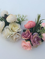 Bouquets de Noiva Lírios Alfinetes de Lapela Casamento Festa / noite Cetim