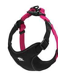 Dog Harness Adjustable/Retractable Solid Black / Green / Orange Nylon