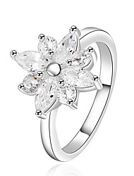 Jewelry Women Flower Silver Ring Sterling Silver Rings Statement Rings