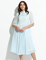 Платье - Средней длины - Шифон/Другое - Винтаж