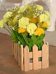 1 Ramo Plástico / Outras Plantas / Cravo / Outras Flor de Mesa Flores artificiais