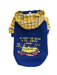 Dog Clothes/Jumpsuit Blue Dog Clothes Winter / Spring/Fall Plaid/Check Cute / Casual/Daily / Keep Warm